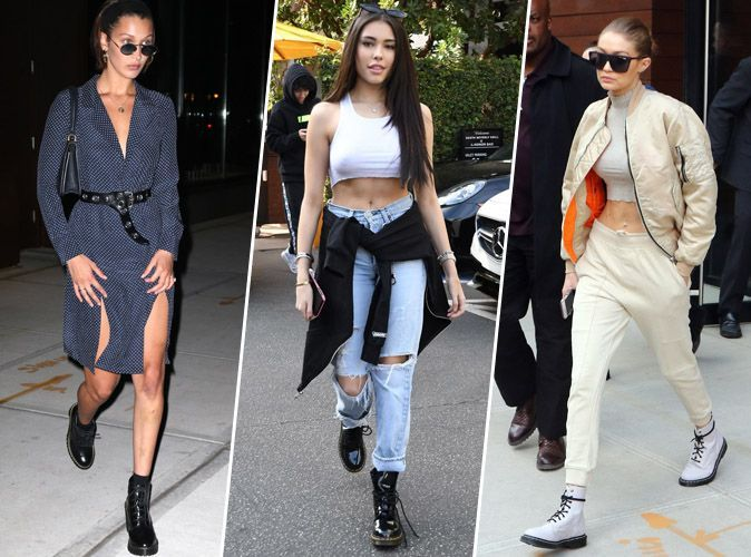 Bella Hadid, Madison Beer, Gigi Hadid... on s'inspire des looks des it-girls pour porter les Dr Martens !