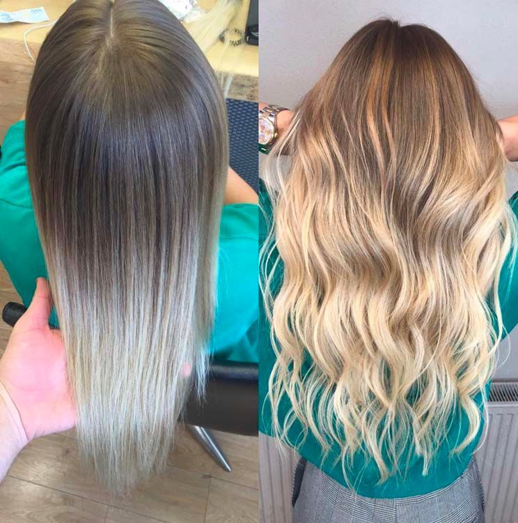 Gommage coloration cheveux