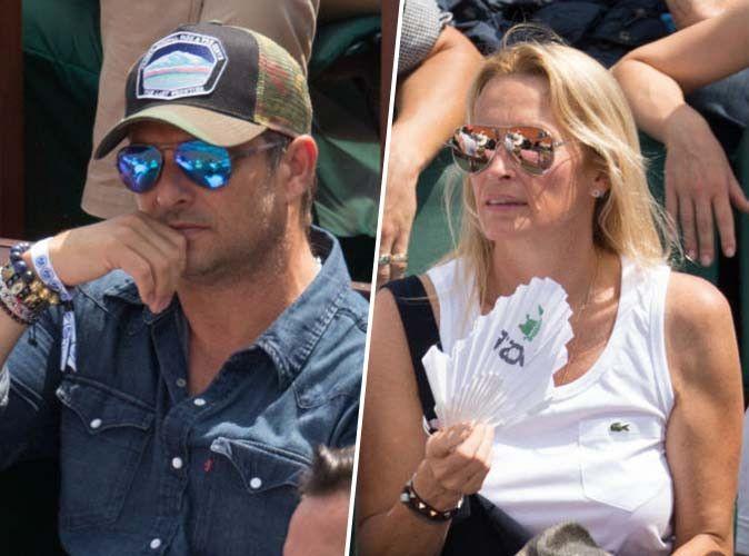 David Hallyday et Estelle Lefébure : retrouvailles à Roland-Garros !