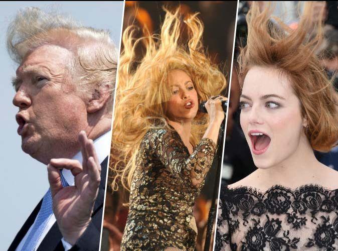 Donald Trump, Shakira, Emma Stone... ces stars aux cheveux fous !
