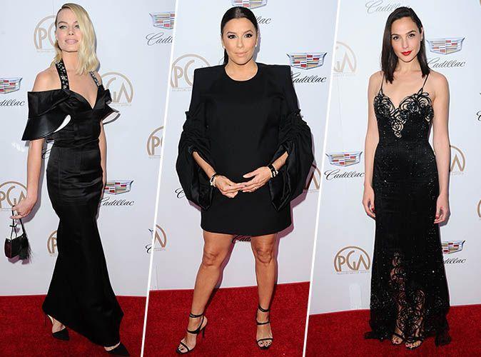 Eva Longoria, Gal Gadot, Kerry Washington... encore habillées en noir aux Producers Guild Awards !