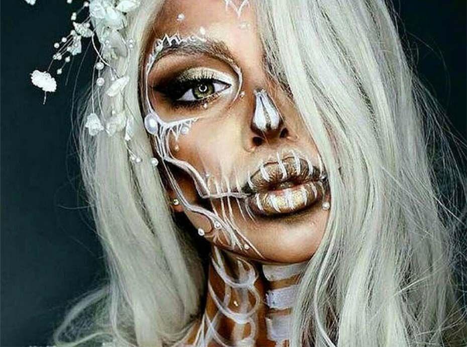 Halloween 58 Idées Canon De Maquillages Squelette Pour être