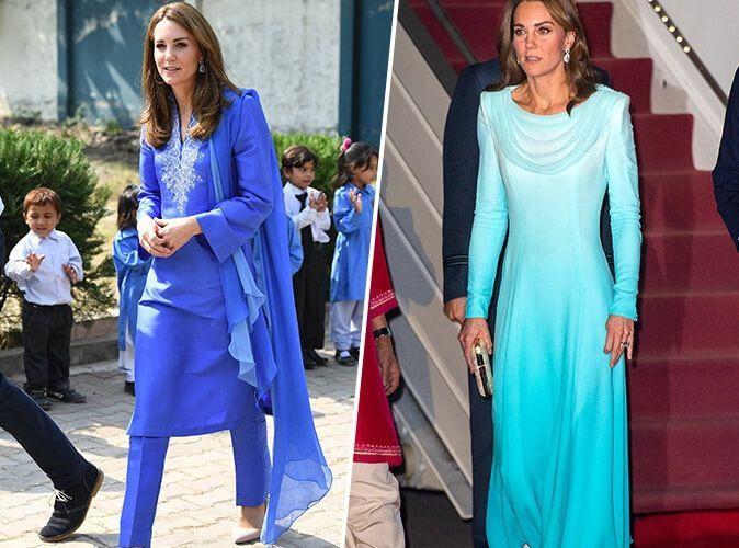 Kate Middleton en tenues traditionnelles : son arrivée remarquée au Pakistan