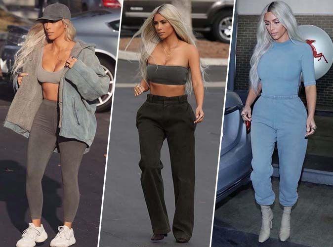 Kim Kardashian et ses 9 looks Yeezy en une journée... On adore !