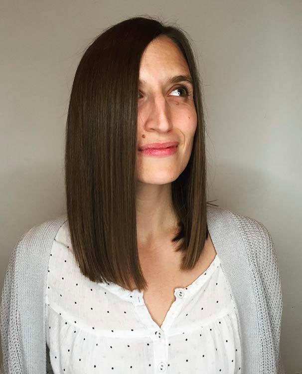 Coupe De Cheveux Femme Carre Long Droit | Coiffures Cheveux Longs