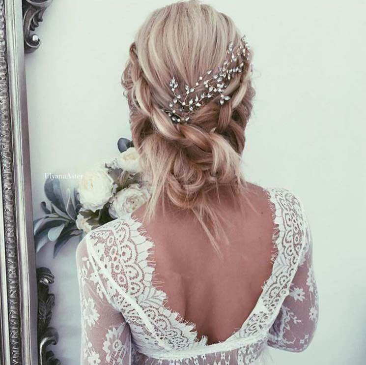 Photo coiffure de mariage cheveux mi long