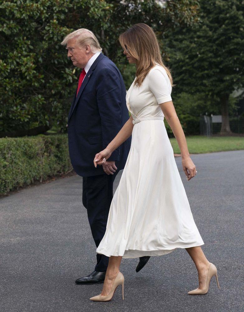 Melania Trump Se La Joue Kate Middleton Cette Robe Ralph Lauren Recyclee Qui Fait Le Buzz