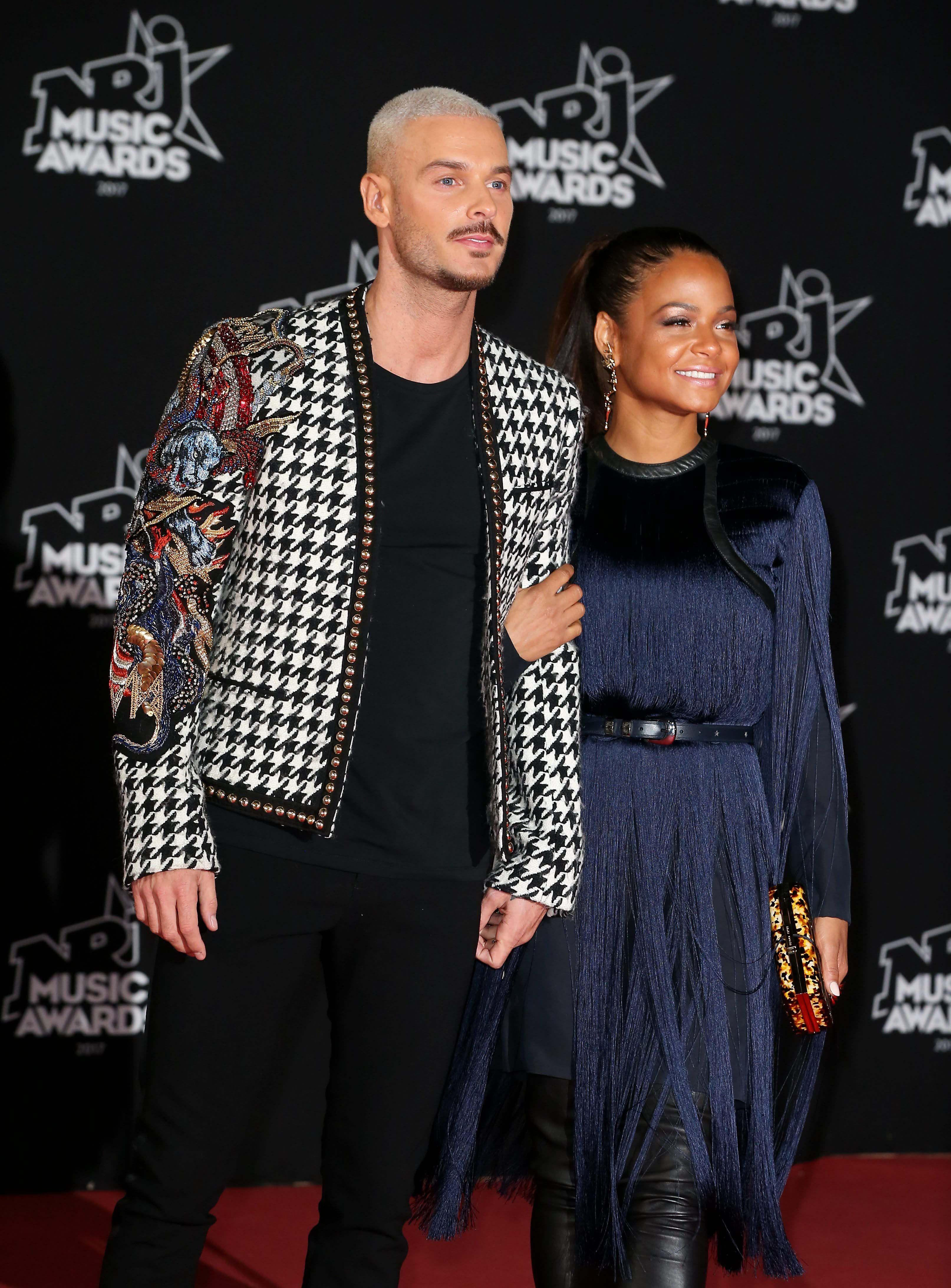 NRJ Music Awards 2017 : Matt Pokora et Christina Milian amoureux sur le tapis rouge !