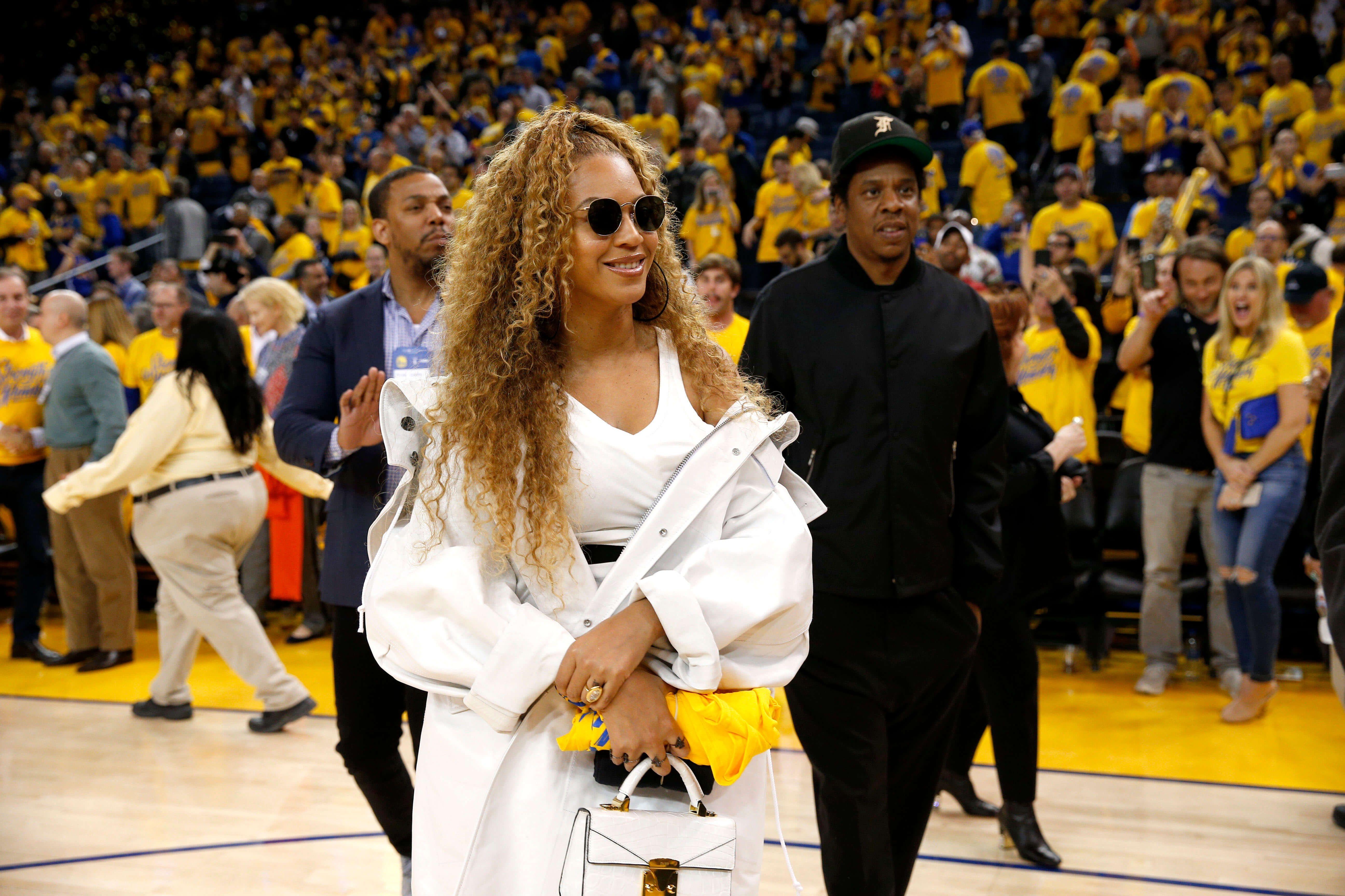 Beyoncé & Jay-Z : Détente pour le couple sur les terrains de la NBA