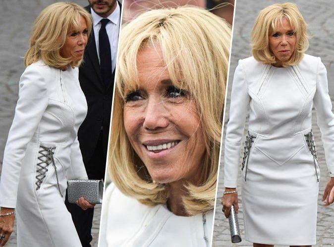 Photos : Brigitte Macron et sa tenue immaculée ont fait sensation au défilé du 14 juillet