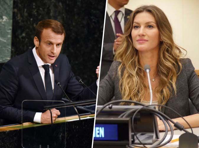 Photos : Emmanuel Macron et Gisele Bündchen à l'ONU : c'est le coup de foudre !