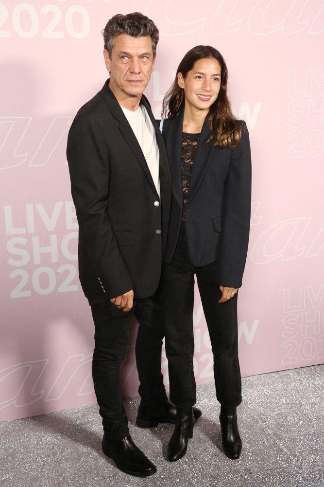 Photos Marc Lavoine Et Line Papin Rare Apparition Du Couple Lors De La Fashion Week De Paris