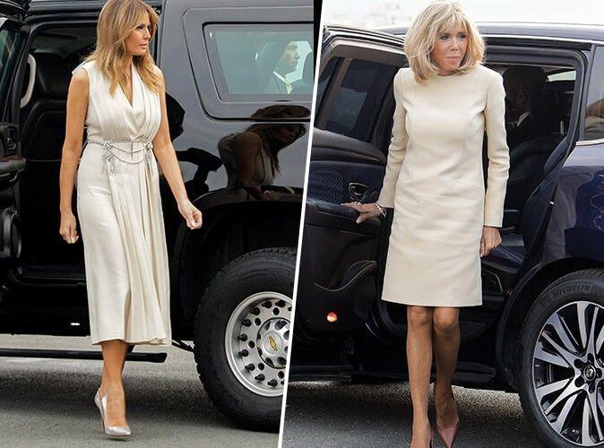 Photos : Melania Trump VS Brigitte Macron : qui était la plus jolie en beige pour le 1er soir au G7 ?