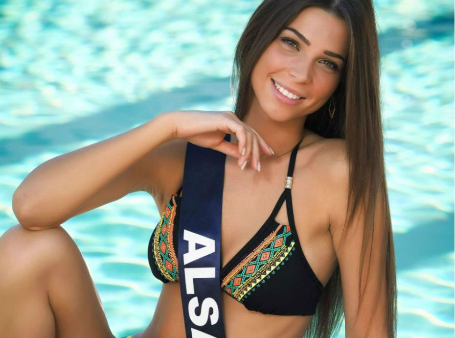A candidate for miss universe takes good burst of cum 1