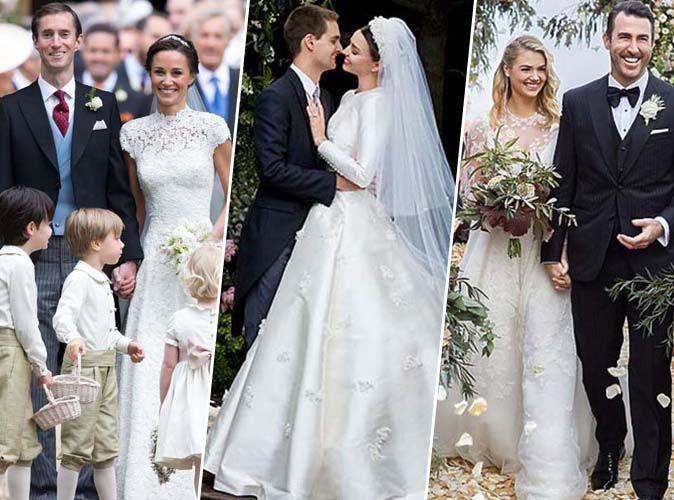 Pippa Middleton, Miranda Kerr, Kate Upton... Retour sur les mariages de l'année 2017