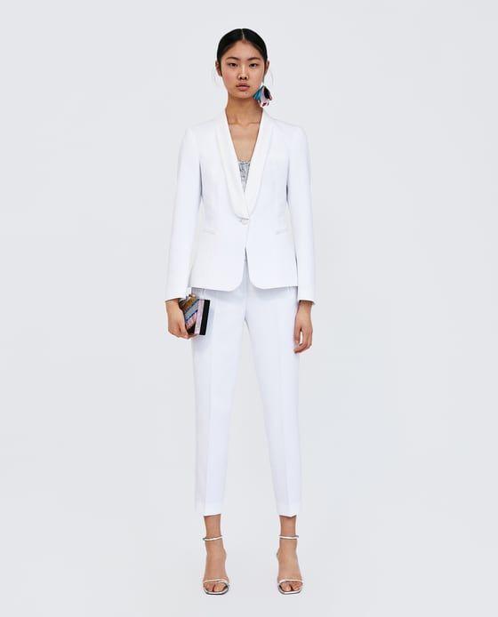 tailleur pantalon femme noir et blanc