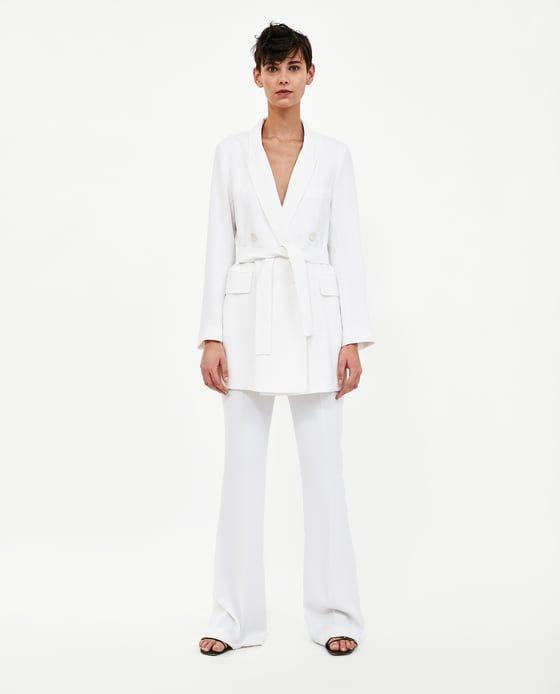 tailleur pantalon femme zara blanc
