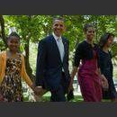 Barack Obama, sa femme et leurs deux filles !