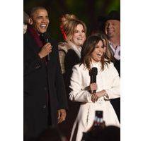 Photos : Barack Obama, Eva Longoria, Marc Anthony... en chanson pour les illuminations de l'arbre de noël
