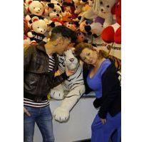 Photos : Cindy Lopes et Bruno Moneroe : ça se câline à la Foire du Trône !