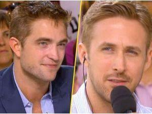 Photos : Cannes 2014 : Robert Pattinson et Ryan Gosling : un des deux beaux gosses confirme être célibataire au Grand Journal !