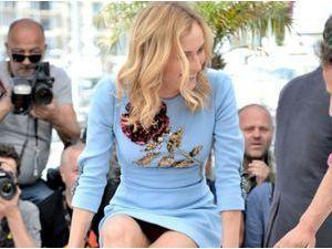 Photos : Cannes 2015 : après Sophie Marceau c'est au tour de Diane Krüger de montrer sa culotte !