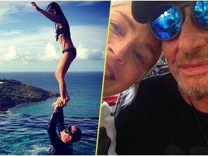 Photos : Johnny Hallyday : comblé en vacances avec sa jolie famille et… Sharon Stone !