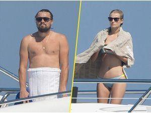 Photos : Leonardo DiCaprio : accompagné de sa chérie Toni Garrn, il se la coule douce sur son yacht !