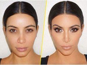 Photos : Kim Kardashian nous dévoile son secret contouring ! Un avant/après flagrant !