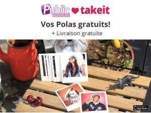 Bon plan : Public et Take it vous offrent 5 photos polas gratuites !