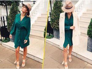 Caroline Receveur : avec sa petite robe verte émerraude, elle fait des ravages !