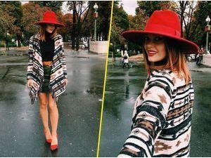 Caroline Receveur : un look bobo chic !