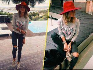 Caroline Receveur : urban style réussit sous le soleil d'Ibiza !