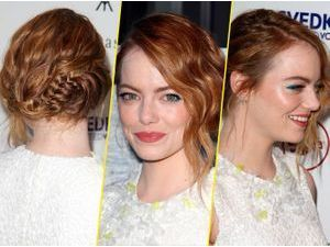 Emma Stone innove avec son eye-liner coloré ! On adore !