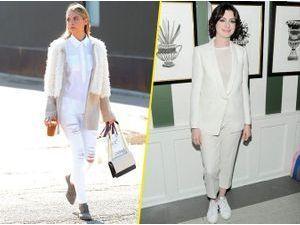 Jaime King VS Anne Hathaway : qui porte le mieux le total look blanc ?
