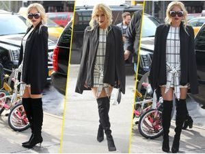 Kesha : un look glamour et stylé, on adopte ses cuissardes !