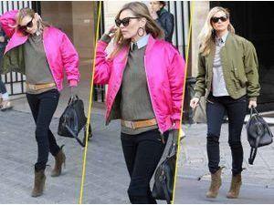 Le bomber rose fluo de Kate Moss... Top ou Flop ?