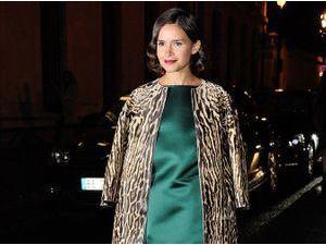 Miroslava Duma : comme elle, on mixe la soie et l'imprimé léopard !