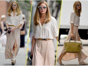 Olivia Palermo : total look nude pour un style assuré dans les rues de New York !