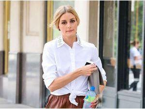 Olivia Palermo : avec sa jupe en cuir, elle affiche un look bohème chic pour l'été !