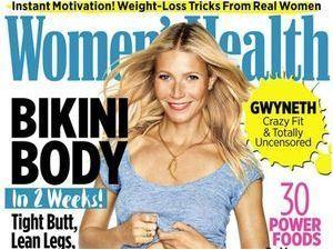 L'actrice Gwyneth Paltrow : des abdos en béton en couverture de Women's Health !