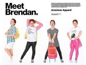 Mode : Brendan Jordan, le chouchou de Lady Gaga, devient égérie American Apparel !
