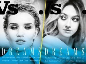 Mode : Photos : Rosie Huntington-Whiteley, Dakota Fanning, Elizabeth Olsen... combinaison gagnante pour WS. Magzine !