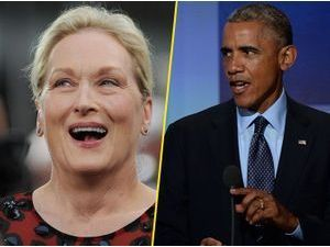 Barack Obama : il crie son amour à Meryl Street !