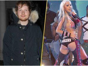 "Ed Sheeran : sa reprise de ""Dirrty"" séduit, même Christina Aguilera !"