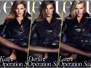 Mode : Photos : Kate Moss, Daria Werbowy et Lara Stone : opération séduction pour Vogue Paris !