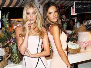 Photos : Alessandra Ambrosio et Elsa Hosk : duo de bombes pour la promotion des nouveaux maillots Victoria's Secret !