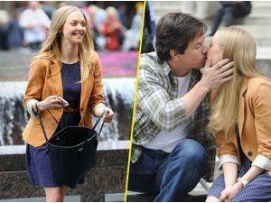 """Photos : Amanda Seyfried et Mark Wahlberg : bonne humeur sur le tournage de """"Ted 2"""" malgré le scandale Stephen Collins !"""