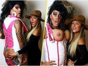 Photos : Anaïs Camizuli : complice avec une drag queen et en quête d'amour, elle palpe du fessier !