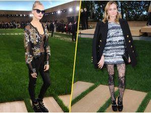 Photos : Cara Delevingne et Diane Kruger... Boule de poils et jolie dentelle au rendez-vous pour le défilé Chanel !